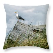Proud Seagull Throw Pillow