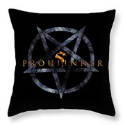 Proud Sinner Throw Pillow