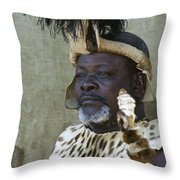 Proud Zulu Throw Pillow