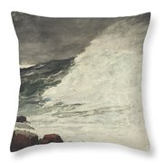 Prouts Neck Breaking Wave Throw Pillow