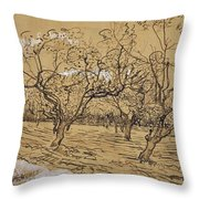 Provencal Orchard Arles  March - April 1888 Vincent Van Gogh 1853  1890 Throw Pillow