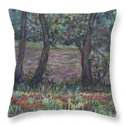 Provence Flowers Throw Pillow by Nadine Rippelmeyer