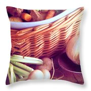Provence Kitchen Shallots Throw Pillow