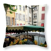 Provence Market Day Throw Pillow