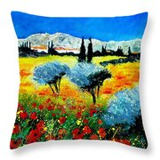 Provence Throw Pillow by Pol Ledent