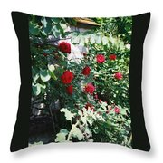 Provence Red Roses Throw Pillow