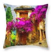 Provence Street Throw Pillow