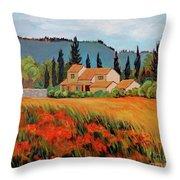 Provence Villa Throw Pillow