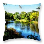 Proverb 4-18 Path Of The Just Throw Pillow