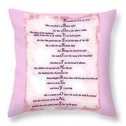 Proverbs 31 Acrostic Throw Pillow