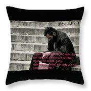 Proverbs103 Throw Pillow