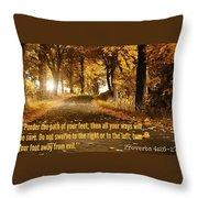 Proverbs104 Throw Pillow