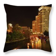 Providence Waterfire Throw Pillow