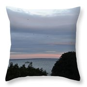 Provincetown At Dusk Throw Pillow