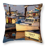 Provincetown Fishing Boats, Ptown, Ma Throw Pillow