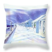 Provincetown Winter Throw Pillow