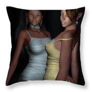 Provocative Flirt Throw Pillow