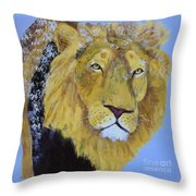 Prowling Lion Throw Pillow