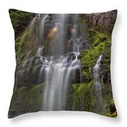 Proxy Falls In Warm Light Throw Pillow