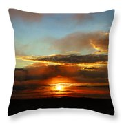 Prudhoe Bay Sunset Throw Pillow