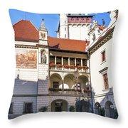 Pruhonice Castle Architecture Throw Pillow