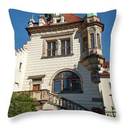 Pruhonice Castle Side View Throw Pillow
