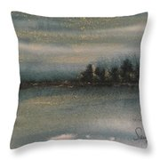 Prussian And Gold  Throw Pillow