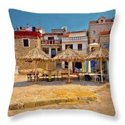 Prvic Luka Waterfront Architecture View Throw Pillow