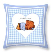 Ps I Love You - Boy Bear Throw Pillow