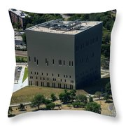 Psac II Building In Nyc Throw Pillow