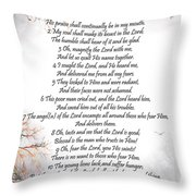 Psalm 34 Pg 2 Throw Pillow
