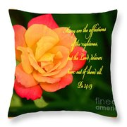 Psalm 34 V 19 Throw Pillow