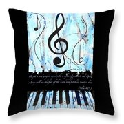 Psalm 40/3 Blue Throw Pillow