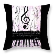 Psalm 40/3 Purple Throw Pillow