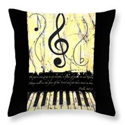 Psalm 40/3 Yellow Throw Pillow