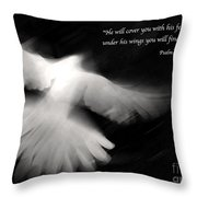 Psalm 91 Throw Pillow by Glennis Siverson
