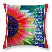 Psalms 92 1 2 Throw Pillow