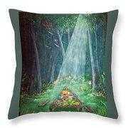 Psalms Twenty Three Five Throw Pillow