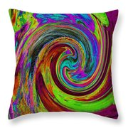 Pscholdelic Surfs Up Throw Pillow