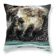 Psst Throw Pillow