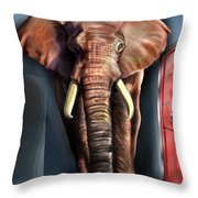 Psst Throw Pillow