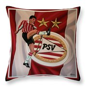 Psv Eindhoven Painting Throw Pillow