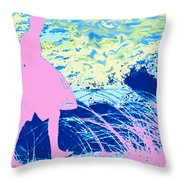 Psychadelic  Beach Throw Pillow