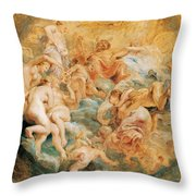 Psyche Taken Up Into Olympus Throw Pillow
