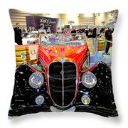 Psychedelic 1947 Delahaye 135m Letourner Et Marchand Cabriolet Throw Pillow