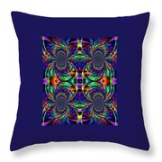 Psychedelic Abstract Kaleidoscope Throw Pillow