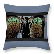 Psychedelic Angel Throw Pillow