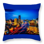 Psychedelic Bangkok Thailand Throw Pillow