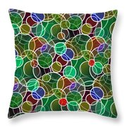 Psychedelic Circles Throw Pillow
