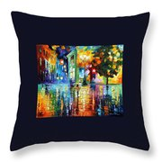 Psychedelic City Throw Pillow